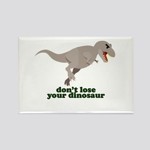 Don't Lose Your Dinosaur Rectangle Magnet