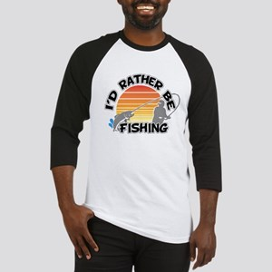 Rather Be Fishing Baseball Tee