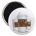 "Deaf Coffee (large) 2.25"" Magnet (10 pack)"