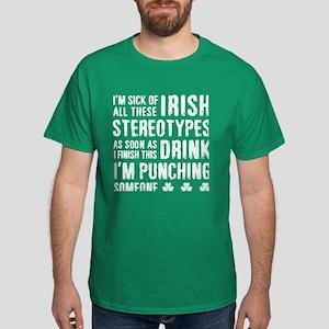 Irish Stereotypes Dark T-Shirt