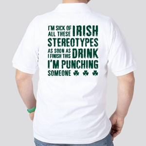 Irish Stereotypes Golf Shirt