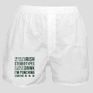 Irish Stereotypes Boxer Shorts