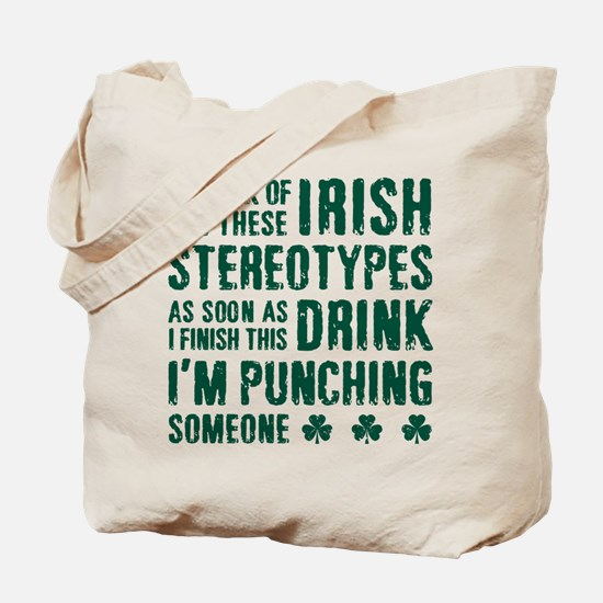 Irish Stereotypes Tote Bag