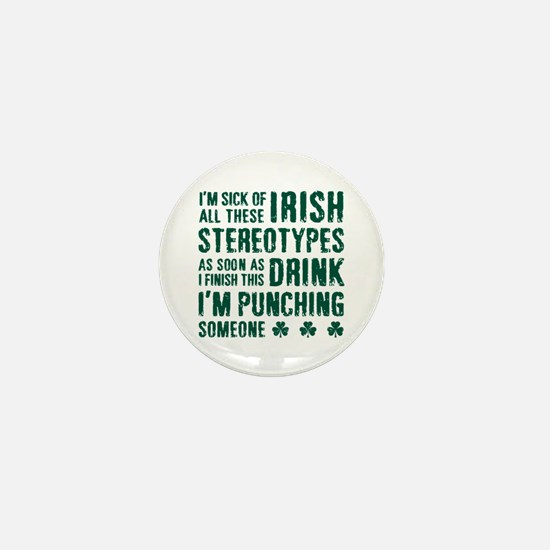 Irish Stereotypes Mini Button