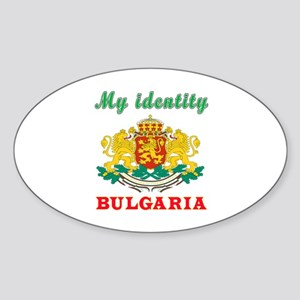 My Identity Bulgaria Sticker (Oval)