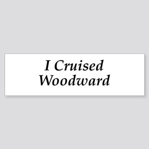 I Cruised Woodward Sticker (Bumper)