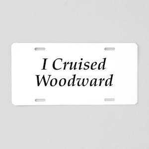 I Cruised Woodward Aluminum License Plate