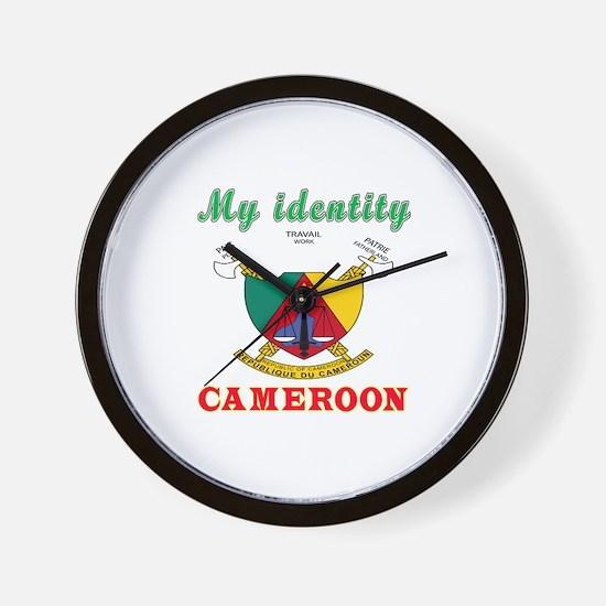 My Identity Cameroon Wall Clock