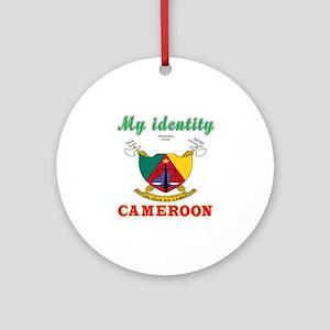 My Identity Cameroon Ornament (Round)