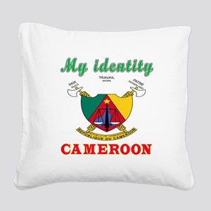 My Identity Cameroon Square Canvas Pillow