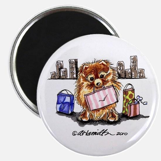 City Pomeranian Magnet