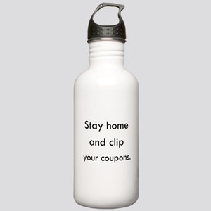 Stay Home and Clip Your Coupons Water Bottle