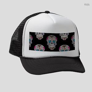 sequin Sugar Skulls Kids Trucker hat