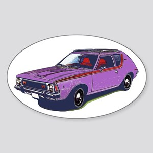 Purple Gremlin Oval Sticker