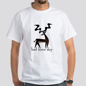 Bad Horn Day White T-Shirt