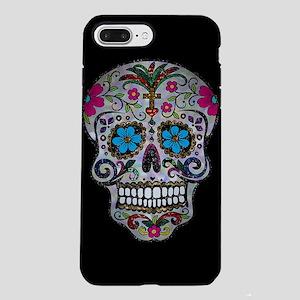 sequin Sugar Skulls iPhone 7 Plus Tough Case