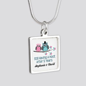 5th Wedding Anniversary Personalized Gift Necklace