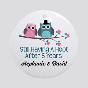5th Wedding Anniversary Personalized Gift Round Or