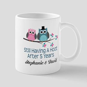 5th Wedding Anniversary Personalized Gift Mugs