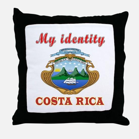 My Identity Costa Rica Throw Pillow
