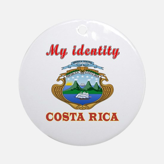 My Identity Costa Rica Ornament (Round)