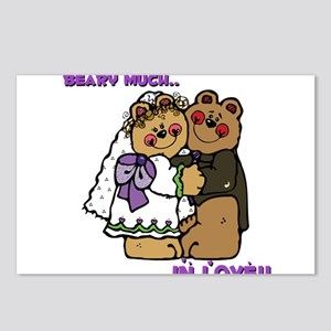 Wedding Bears, Beary Much in Love! Postcards (Pack