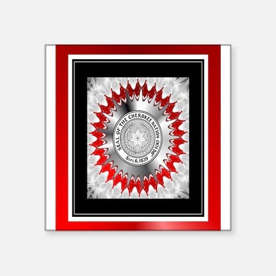 "Cherokee Nations Square Sticker 3"" x 3"""
