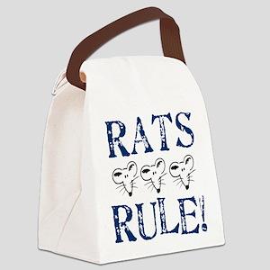 Rats Rule Trio Canvas Lunch Bag
