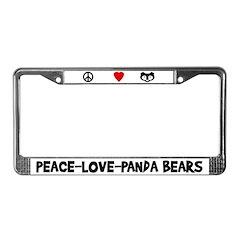 Peace-Love-Pandas License Plate Frame