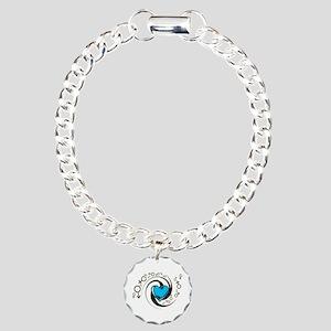 Tribal Blue Heart and Symbols Charm Bracelet, One