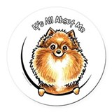 Its all about me maltese Round Car Magnets