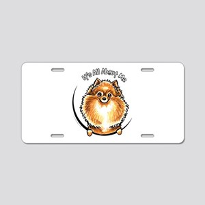 Orange Pomeranian IAAM Aluminum License Plate