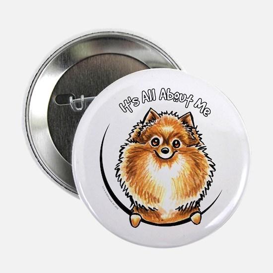 "Orange Pomeranian IAAM 2.25"" Button"