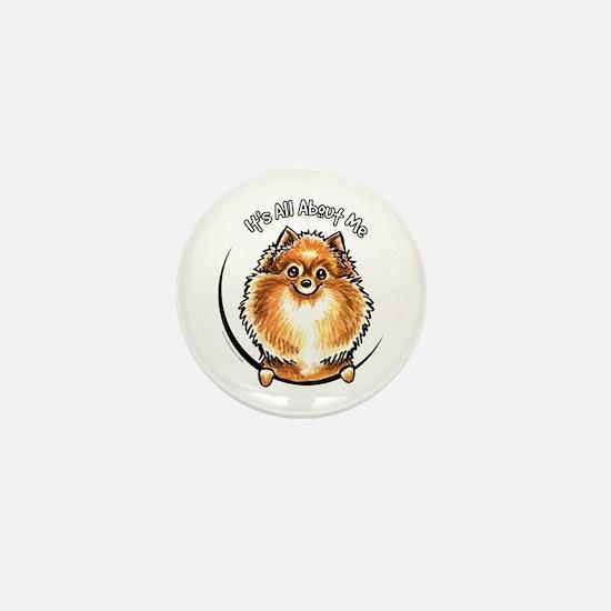 Orange Pomeranian IAAM Mini Button