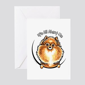 Orange Pomeranian IAAM Greeting Card