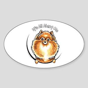 Orange Pomeranian IAAM Sticker (Oval)