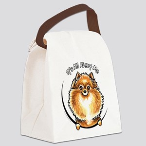 Orange Pomeranian IAAM Canvas Lunch Bag