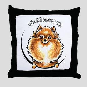 Orange Pomeranian IAAM Throw Pillow