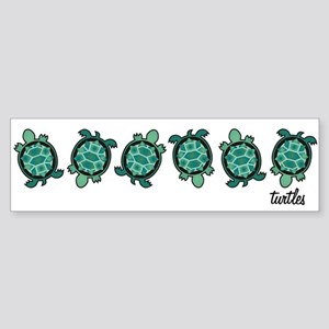 Turtle Town Bumper Sticker