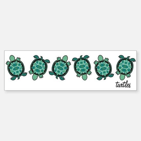 Turtle Town Bumper Bumper Bumper Sticker