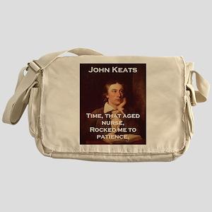 Time That Aged Nurse - John Keats Messenger Bag