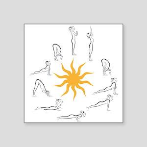 yoga sun salutation Sticker
