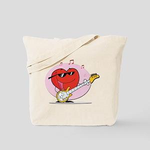 Rocking Out Singing Heart Tote Bag
