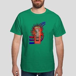 British Red Telephone Box Art T-Shirt