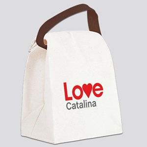 I Love Catalina Canvas Lunch Bag