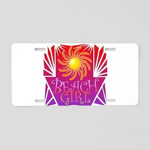 Beach Girl Aluminum License Plate