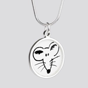 Rat Face Silver Round Necklace