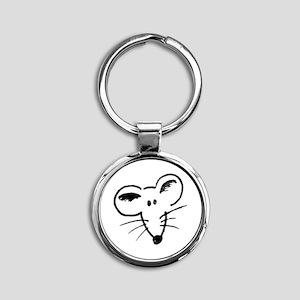 Rat Face Round Keychain