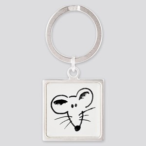 Rat Face Square Keychain