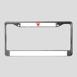 Pitchfork Devil Love License Plate Frame